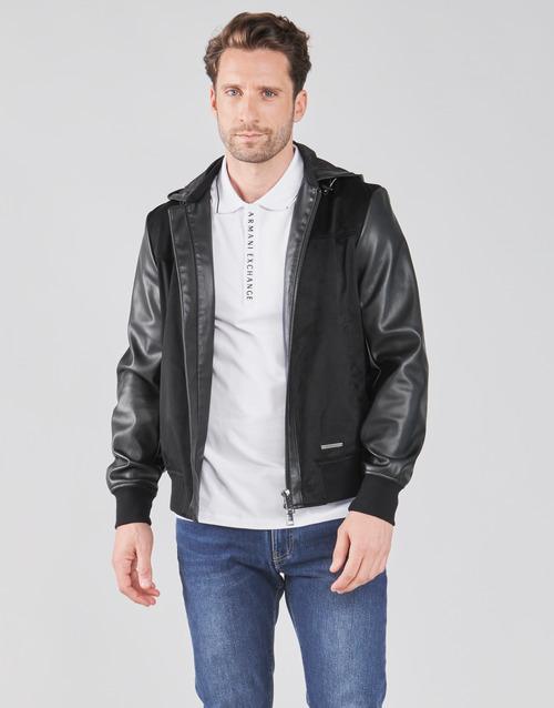 Clothing Men Jackets Armani Exchange 3KZB03-ZE1AZ Black