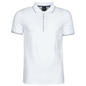 Clothing Men Short-sleeved polo shirts Armani Exchange 8NZF71-ZJH2Z White