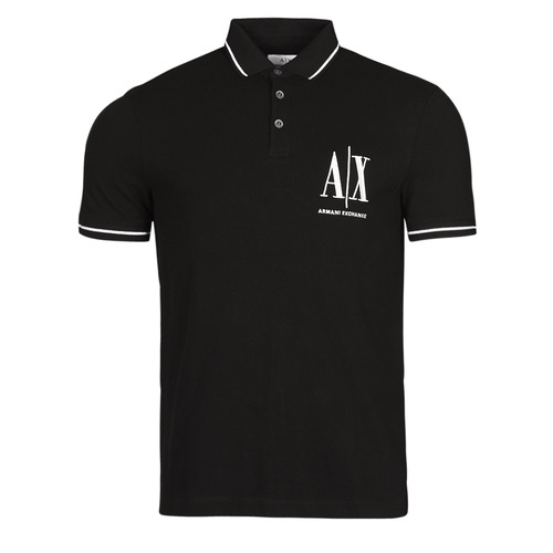 Clothing Men Short-sleeved polo shirts Armani Exchange 8NZFPA-Z8M5Z Black