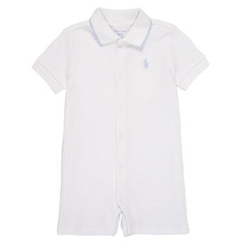 Clothing Boy Jumpsuits / Dungarees Polo Ralph Lauren TONNY White