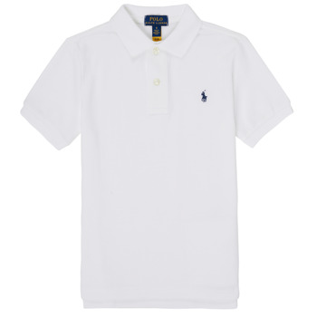 Clothing Boy Short-sleeved polo shirts Polo Ralph Lauren TUSSA White