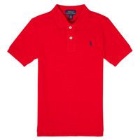 Clothing Boy Short-sleeved polo shirts Polo Ralph Lauren TUSSA Red