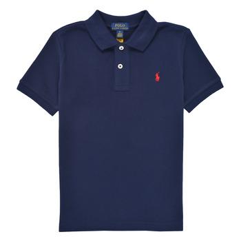 Clothing Boy Short-sleeved polo shirts Polo Ralph Lauren FRANCHI Blue
