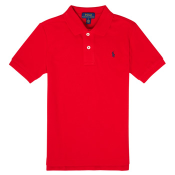 Clothing Boy Short-sleeved polo shirts Polo Ralph Lauren MENCHI Red