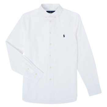 Clothing Boy Long-sleeved shirts Polo Ralph Lauren CAMIZA White