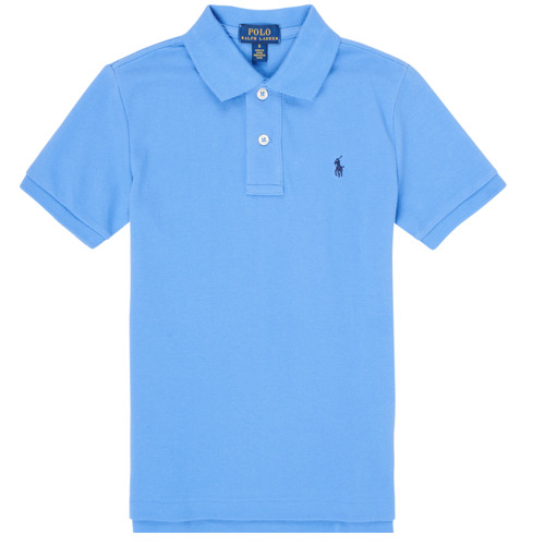 Clothing Boy Short-sleeved polo shirts Polo Ralph Lauren FRANCHI Blue / Clear