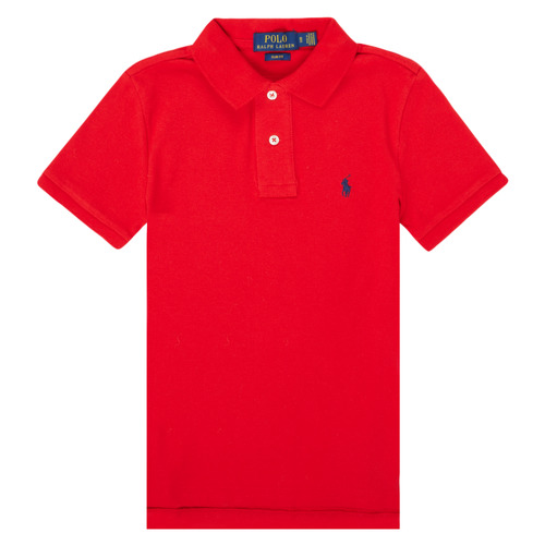 Clothing Boy Short-sleeved polo shirts Polo Ralph Lauren FRANCHI Red