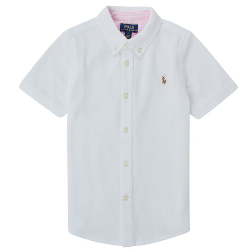 Clothing Boy Short-sleeved shirts Polo Ralph Lauren CAMISSA White