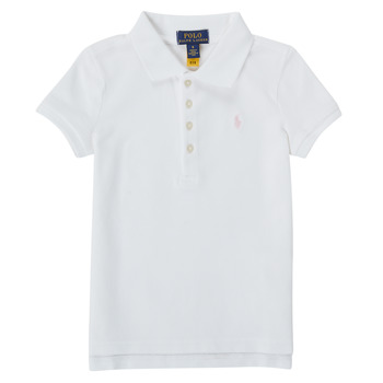 Clothing Girl Short-sleeved polo shirts Polo Ralph Lauren TOULLA White