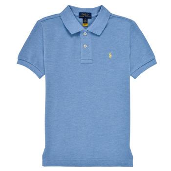 Clothing Boy Short-sleeved polo shirts Polo Ralph Lauren BLEUNI Blue