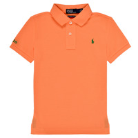 Clothing Boy Short-sleeved polo shirts Polo Ralph Lauren POLLIE Orange