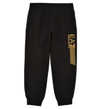 Clothing Boy Tracksuit bottoms Emporio Armani EA7 3KBP53-BJ05Z-1200 Black / Gold
