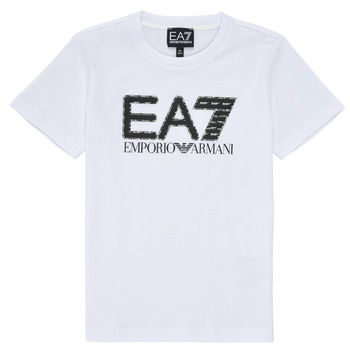 Clothing Boy Short-sleeved t-shirts Emporio Armani EA7 3KBT53-BJ02Z-1100 White