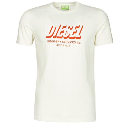 Clothing Men Short-sleeved t-shirts Diesel A01849-0GRAM-129 White