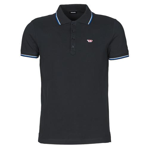 Clothing Men Short-sleeved polo shirts Diesel 00SW7C-0MXZA-900 Black