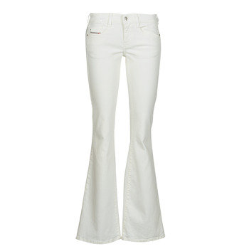 Clothing Women Bootcut jeans Diesel D-EBBEY White / Broken