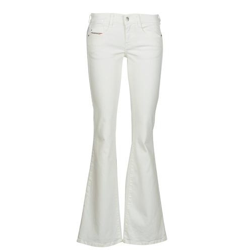 Clothing Women Bootcut jeans Diesel D-EBBEY White / Broken