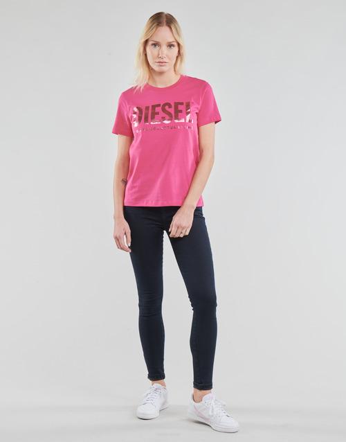 Clothing Women Skinny jeans Diesel SLANDY Blue / Dark