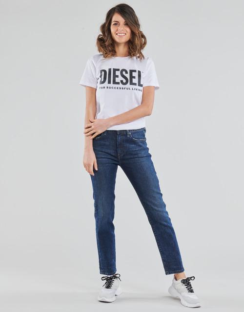 Clothing Women Straight jeans Diesel D-JOY Blue / Medium