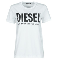 Clothing Women Short-sleeved t-shirts Diesel 00SYW8-0CATJ-100 White