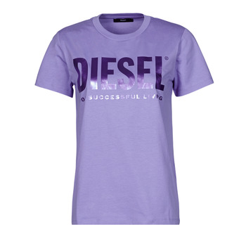 Clothing Women Short-sleeved t-shirts Diesel 00SYW8-0CATJ-64F Purple