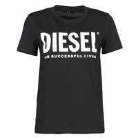 Clothing Women Short-sleeved t-shirts Diesel 00SYW8-0CATJ-900 Black