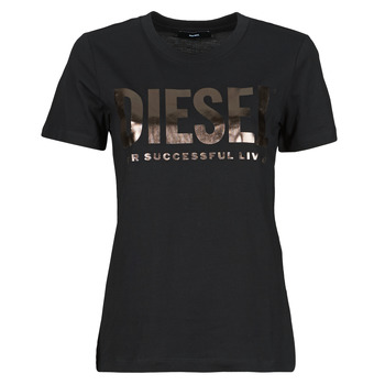 Clothing Women Short-sleeved t-shirts Diesel 00SYW8-0CATJ-9XXB Black