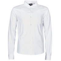 Clothing Men Long-sleeved shirts Emporio Armani YOULLINE SLIM White