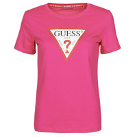 Clothing Women Short-sleeved t-shirts Guess SS CN ORIGINAL TEE Fuschia