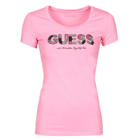 Clothing Women Short-sleeved t-shirts Guess SS RN MARTINA TEE Pink