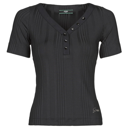 Clothing Women Short-sleeved t-shirts Guess SS LETICIA TOP Black