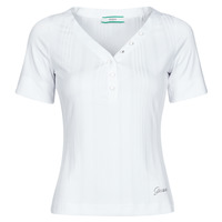 Clothing Women Short-sleeved t-shirts Guess SS LETICIA TOP White