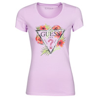 Clothing Women Short-sleeved t-shirts Guess SS CN REBECCA TEE Lilac