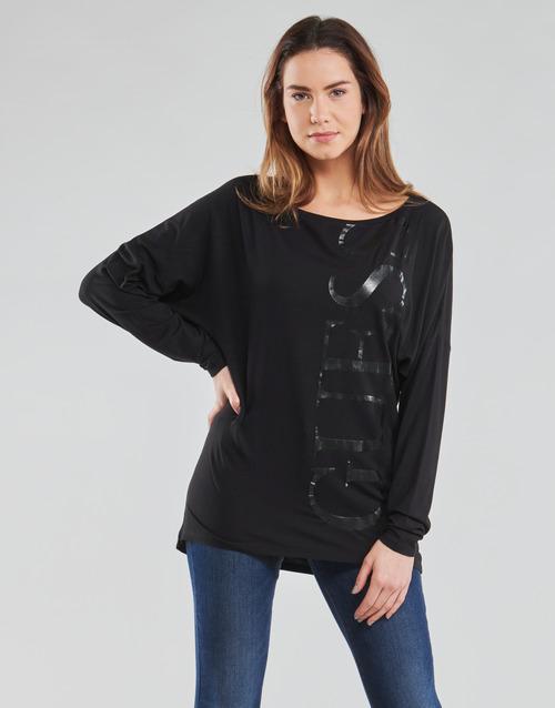 Clothing Women Long sleeved tee-shirts Guess LS KAROLINA TEE Black