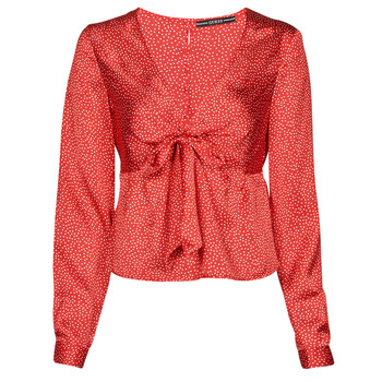 Clothing Women Tops / Blouses Guess NEW LS GWEN TOP Red / White