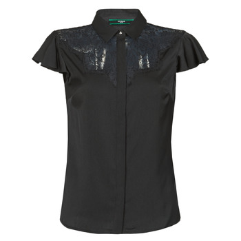 Clothing Women Tops / Blouses Guess SS RENATA TOP Black