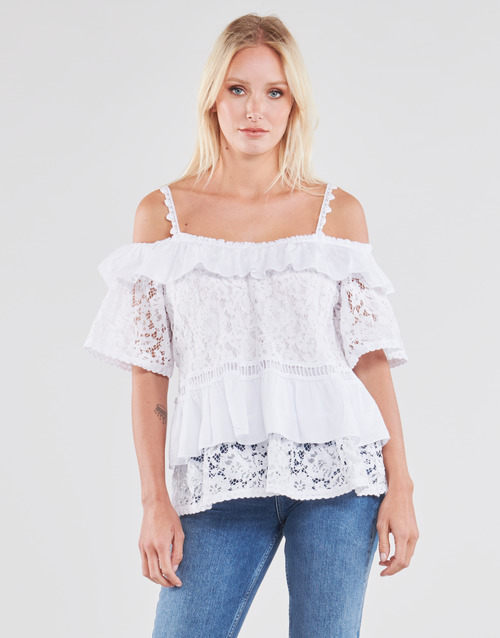 Clothing Women Tops / Blouses Guess SS NEW OLIMPIA TOP White