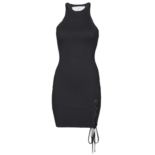 Clothing Women Short Dresses Guess ALEXA TIE DRESS Black