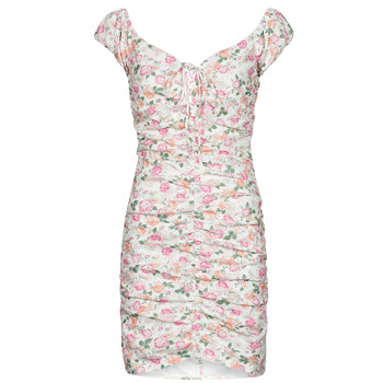 Clothing Women Short Dresses Guess INGRID DRESS Pink / Clear