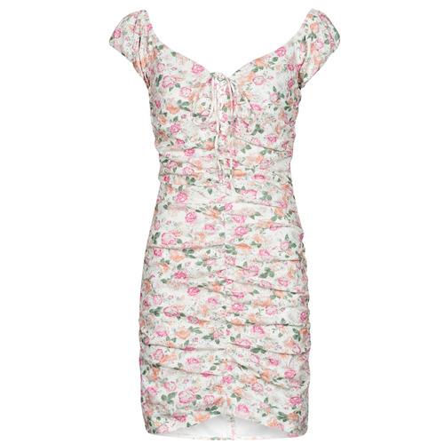 Clothing Women Short Dresses Guess INGRID DRESS Pink / Clear