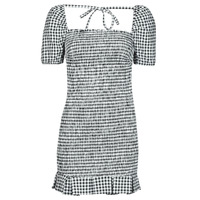 Clothing Women Short Dresses Guess AIDA  DRESS Black / White