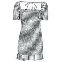 Clothing Women Short Dresses Guess AIDA  DRESS Black / White