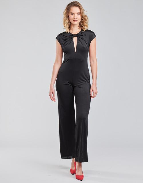 Clothing Women Jumpsuits / Dungarees Guess ROSANNA JUMPSUIT Black