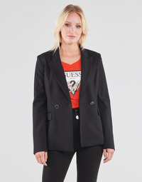 Clothing Women Jackets / Blazers Guess MICAELA BLAZER Black