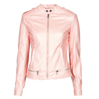 Clothing Women Leather jackets / Imitation leather Guess NEW TAMMY JACKET Pink