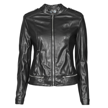 Clothing Women Leather jackets / Imitation leather Guess NEW TAMMY JACKET Black