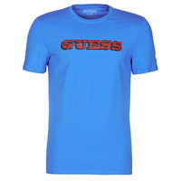 Clothing Men Short-sleeved t-shirts Guess GUESS PROMO CN SS TEE Blue