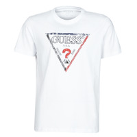Clothing Men Short-sleeved t-shirts Guess TRIESLEY CN SS TEE White