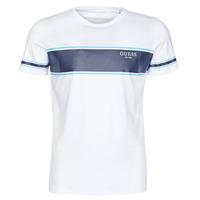 Clothing Men Short-sleeved t-shirts Guess CN SS TEE White / Marine