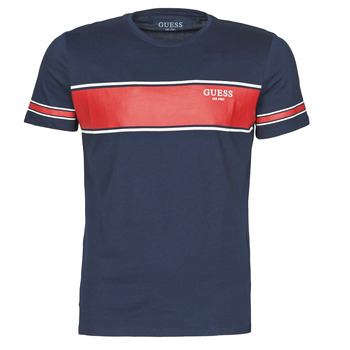 Clothing Men Short-sleeved t-shirts Guess CN SS TEE Marine / Red
